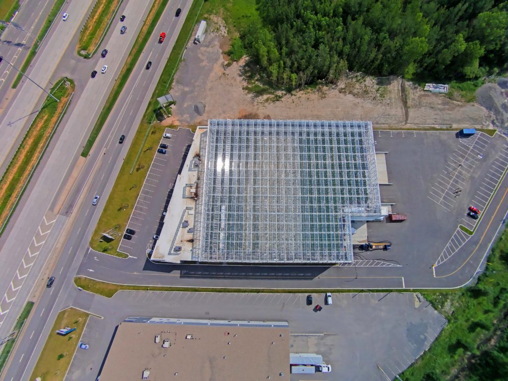 Montreal-based Lufa Farms' commercial rooftop greenhouse in Laval, Que. LUFA FARMS