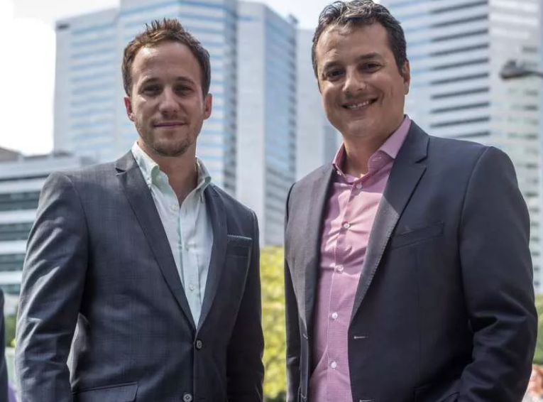 Ben Rodier and Oscar Sachs of Salesfloor (Photo by Dave Sidaway/Montreal Gazette)